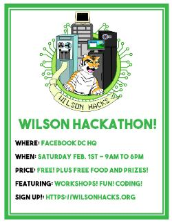 Register for the 2nd Annual Wilson Computer Science Hackathon!